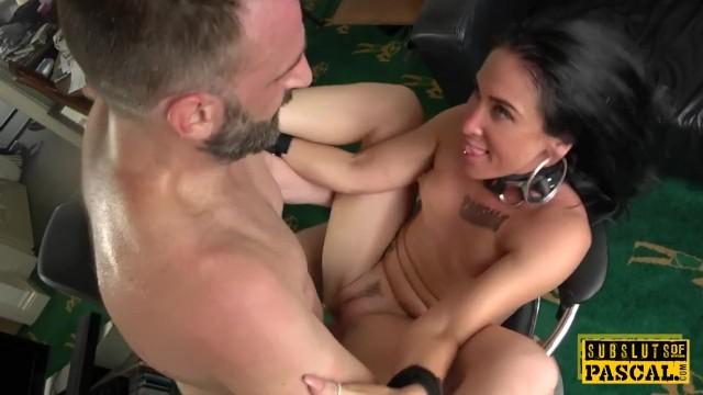 Handcuffed ladies milf Handcuffed uk milf edged while cockriding dom
