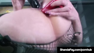 Horny Dildo Banger Shanda Fay Gets Off On Glass Table w Toy!