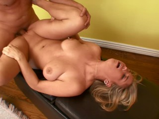 PAWG BLONDE TEEN TIT FUCKS AND RIDES HARD COCK