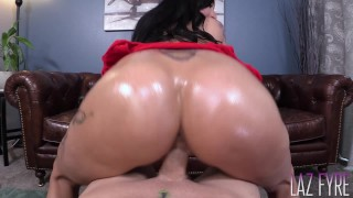 Lily Lane's Oiled Ass Works a Dick Laz Fyre