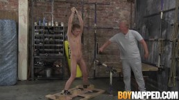 Blond twink Chris Jansen is tortured by older Sebastian Kane