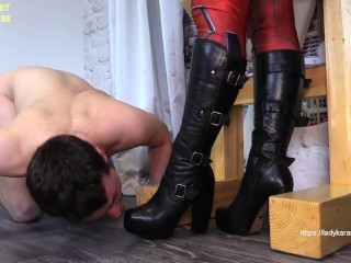 My boots should shine! Watch full Clip on ladykarame.net