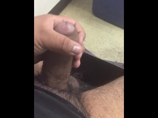 Masturbating at work