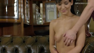 Shows her beretta bella and being sexy body rubbed rubbed 18yr