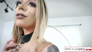 First Class POV - Watch Karma Rx take her mouth and pussy full of dick Tranny transgender
