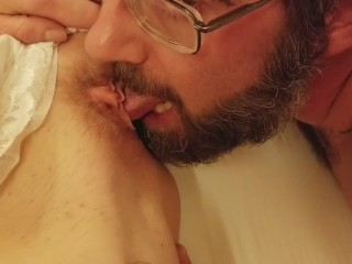 Eating my amazing girls pussy and ass