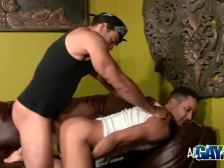 Thug Tough Guys Masturbating And Ass Fucking