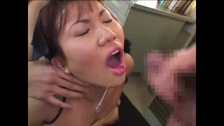 Japanese Teen tied and used as Cum Bucket Japanese Bukkake Orgy