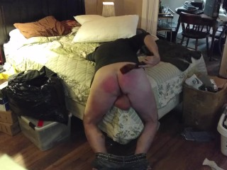 Self Spanking for not cleaning my room