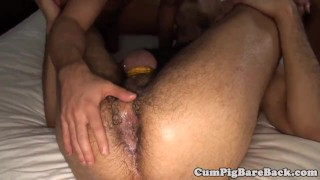 Foursome in grey assfucking twinks wolf barebackcumpigs bare