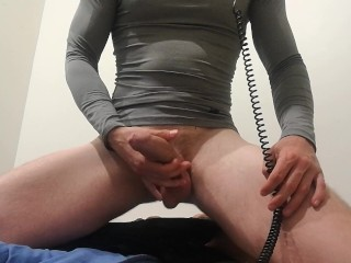 1st time CAM! wank and bum poke
