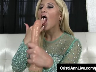 Hot Latina Cristi Ann Gives You Hot Cum Eating Instructions!