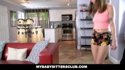 MyBabySittersClub - Doll Eyed BabySitter Fucks Client