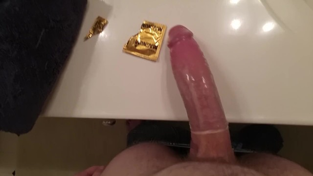 Magnums for large penis - Playing with my huge cock stretching out a magnum
