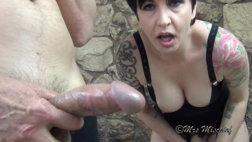Double Cock Cleanup - POV humiliation for cum-craving cuckold