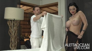 Aletta Ocean Massages My Cock Like a Pro