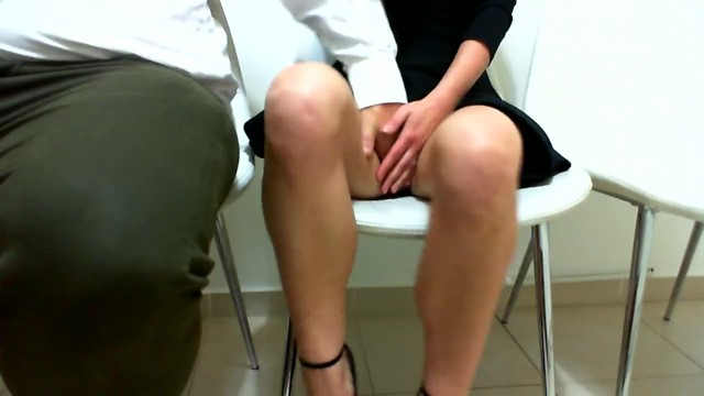 Sexy women working - Playing in public.i make her cum on a public conference at work