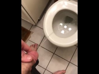 Teen soft piss in toilet