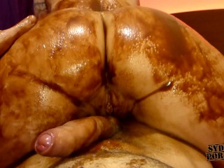 Tasty big ass in chocolate messy fuck...