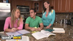 BANGBROS - Stepmom Sara Jay and Daughter Carter Cruise Threesome