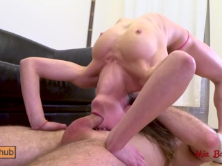 Teen gymnast ass to mouth fucked by coach with anal creampie. Mia Bandini