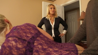 part an attitude with milf 3some blonde