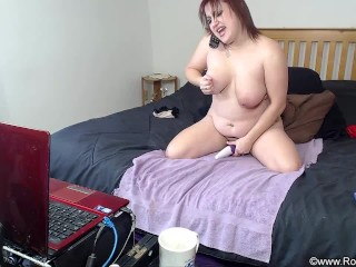 Intense Dildo Cunt Fucking and Riding Show - ALHANA WINTER - Camshow