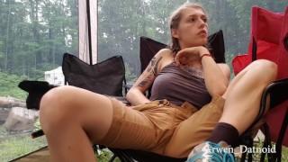 Public camping masturbating homemade camping