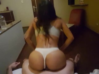 Sexy shorts perfect butt and sex with thong Dani Queen