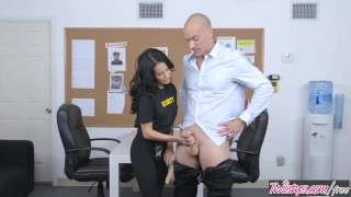 Rain girl finds concealed twistys dirty cock security megan security bent