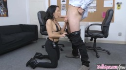 Twistys - Dirty security girl Megan Rain finds concealed cock