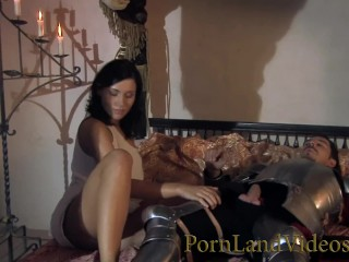 Horny warrior fucking brunette sex wet pussy anal...