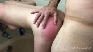 Little painal gets the submissive girl tight shower in fucked ass her young punishment