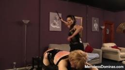 The Spanking Of SallyAnne - Mistress Dark Faye Spanked Her Sissy Slave