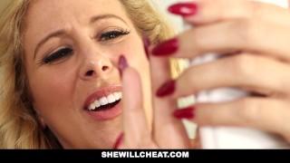 SheWillCheat - Slut Wife Finds First BBC On Social Media porno