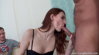Housewife Turns Swinger For The Day