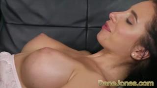 Babe and tits licking vigorous big dane sloppy blowjob wet euro pussy jones twosome tits