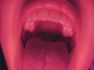 Giantess punishment - teasing you with my long tongue and eating you alive