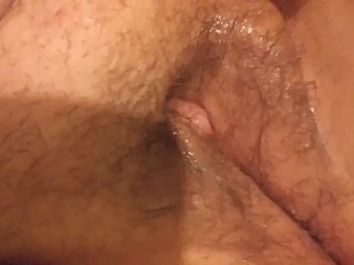 Watch this chubby girl fuck her dripping wet hairy pussy
