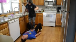 TSM - Kip tramples and practices jumping on me