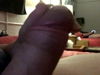 Jerking and cuming with cock ring