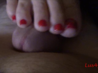 Luv4feet - Sensual Massage Under the Covers - No Cum