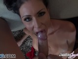 Watch Jessica Jaymes in her punk outfit sucking a bid dick in POV style
