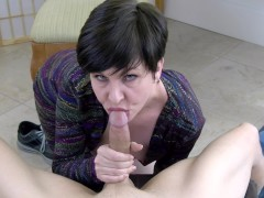 Your Cocksucking Marriage Counselor - MILF blowjob and sloppy oral creampie