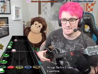 Monkey gives guitar violent handjob on stream
