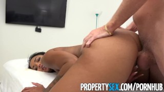 PropertySex - Hot property manager fucks pissed off tenant Schoolgirl lesbo