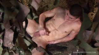 Soldier off muscular jerks koubek rob young male cjxxx