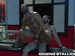 RagingStallion Bruno Bernal Takes Hot Cock on the Countertop
