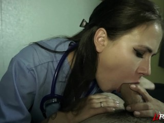 Preview 4 of Nurse Gets A Mouth Full Of Cum - LJFOREPLAY