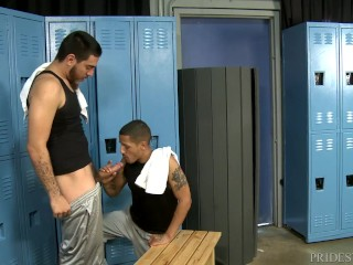 Juan Carlos Spots Huge Fucking Cock in Locker Room